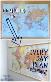 Map Art Love This Diy Map Art Idea It U0027s So Easy Ignite Your Wanderlust