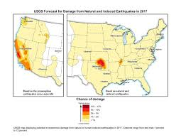 New Mexico On Us Map by New Usgs Maps Identify Potential Ground Shaking Hazards In 2017
