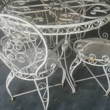 White Metal Patio Chairs 1326 Best Vintage Wrought Iron Patio Furniture Images On Pinterest