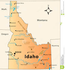 Rivers In Usa Map by Idaho Map Stock Photos Image 36434563