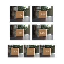 Wohnzimmerm El Marke Amazon De Sharplace Quadrat Led Alarm Digitaluhr Sprachsteuerung
