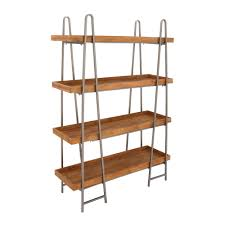Etagere Wood Furniture Home Wood And Metal 4 Tier 65 Etagere Bookcase Design
