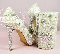 wedding shoes and bags aliexpress buy ivory wedding shoes pearl bridal party