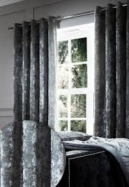 Black Eyelet Curtains 66 X 90 Catherine Lansfield Crushed Velvet Eyelet Curtains Polyester
