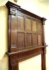 a late 19th century oak fire surround partially made up from