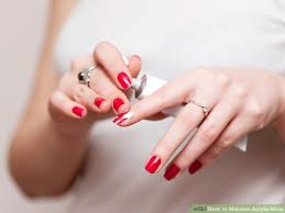 how to maintain acrylic nails 5 steps with pictures wikihow