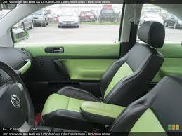 2000 Vw Beetle Interior Door Handle Black Green 2003 Volkswagen New Beetle Interiors Black Mint Green