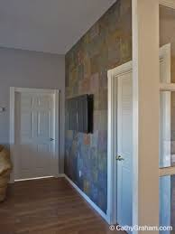 Peacock Slate Floor Tiles by Creating A Slate Accent Wall U2013 The Easy Way Cathy Graham