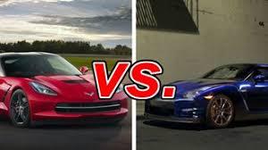 nissan corvette chevrolet corvette vs nissan gt r carsdirect