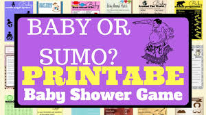 baby or sumo printable baby shower game youtube