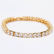bracelet gold white gold images Large cut iced out tennis bracelet gold white gold thegiftedfew jpg