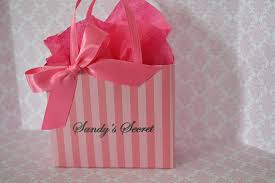 pink favor bags s secret inspired party favor bags in pink for any