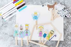 christmas story stick puppets free printable daydream into reality
