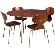 table and chair set for sale ant rosewood table and dining chair set by arne jacobsen for sale at