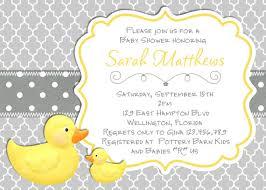 duck baby shower invitations modern rubber duck baby shower invitation trefoil yellow gray