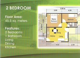 2 bedroom house floor plans philippines two bedroom house plan in 3d small house floor plans