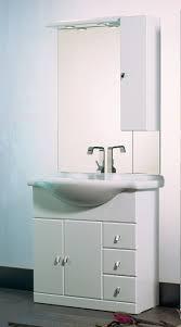 armadietto bagno con specchio arredobagno cleo da 95 cm bianco con specchio