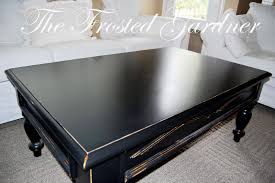 the frosted gardner the petersen coffee table custom refinish