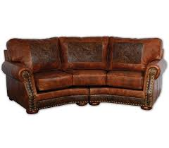 Leathercraft Sofas Cameron Ranch Curved Sofa Big Sky Decor Go Western