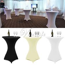 spandex table covers wholesale 10pcs white black ivory 60cm 80cm lycra stretch spandex table