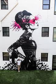 134 best street art images on pinterest drawings murals street street art woman on the wall