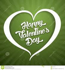 happy green color happy valentines day handwritten lettering design text on color