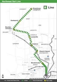 Map Of Denver Colorado by Northwest Rail B Line