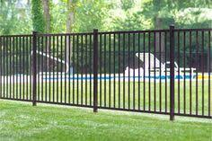 i like this ornamental fence because it is simple and would mock the