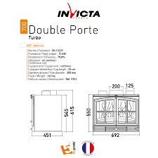 invicta fireplaces turbo double door 700 70 cm