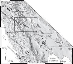 San Felipe Mexico Map by Early Pleistocene Initiation Of The San Felipe Fault Zone Sw