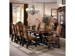 crown mark neo renaissance double pedestal dining table and chairs