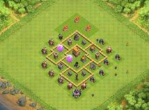 coc village layout level 5 best town hall level 5 defense th5 trophies base by village