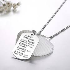Custom Charm Necklaces Udobuy Stainless Steel Pendant Always Remember You Are Braver Than