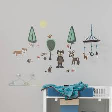 forest wall sticker set by rocket and fox notonthehighstreet com forest wall sticker set