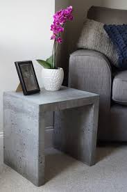 Concrete Side Table Solid Concrete Side Table