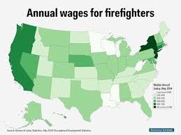 State Map by Firefighter Salary State Map Business Insider