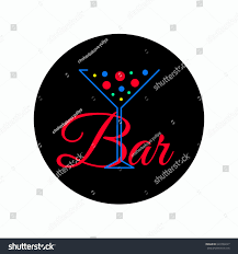 martini bar logo logo cocktail bubbles banner bar icon stock vector 649769227