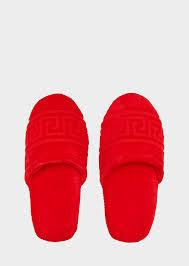 Mens Duvet Slippers Versace Home Luxury Slippers Uk Online Store