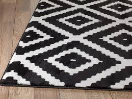 Area Rug Black And White Summit 46 Black White Geometric Area Rug Buy Rite Rugs