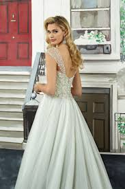 style 8968 art deco beaded bodice with tulle skirt ball gown
