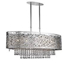 Chrome Pendant Light Fitting by Mica Chrome 5 Light Fitting With Crystal Button Drops U2013 3055 5cc