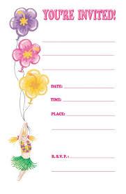 girl birthday party invitation template girl birthday invitation templates