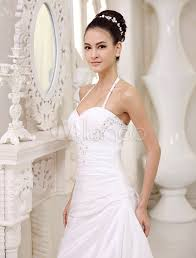 wedding dress no white wedding dresses halter backless bridal dress rhinestones