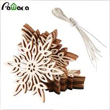 aliexpress com buy 10pcs lot natural wood christmas ornaments