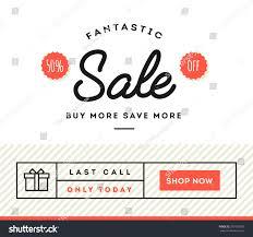 sale discount online shopping banner newsletter stock vector