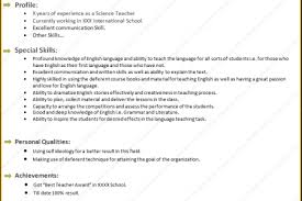 Teacher Resume Sample Esl Resources For Parents Citing A Research Paper Chicago Style