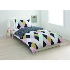 Harlequin Duvet Covers Harlequin Reversible Quilt Cover Set Single Bed Kmart