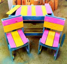 Furniture For Kids Diy Colorful Pallet Furniture For Kids 99 Pallets
