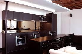 inspiration cuisine ouverte beau plan de cuisine ouverte 12 la cuisine marron inspiration