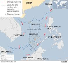 map world seas south china sea satellite photos show weapons built on islands